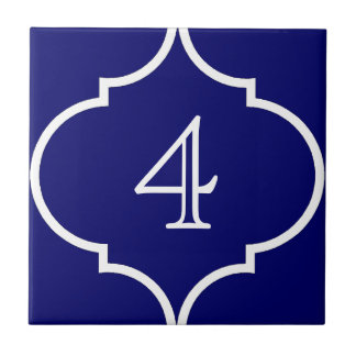teja marroquí del número del quatrefoil