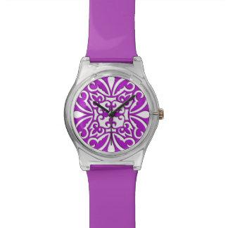 Teja marroquí - púrpura y blanco violetas
