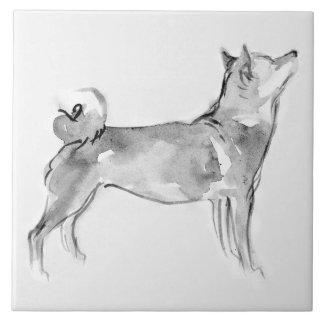 Teja original del año 2018 del perro de la pintura