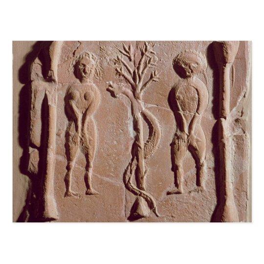 Teja que representa Adán y a Eva, romanos Postal