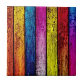 Teja rayada de madera del acento del arco iris