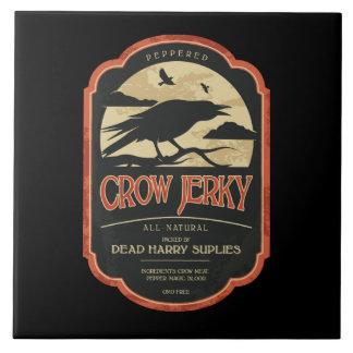Teja Trivet del cuervo de Halloween de la etiqueta