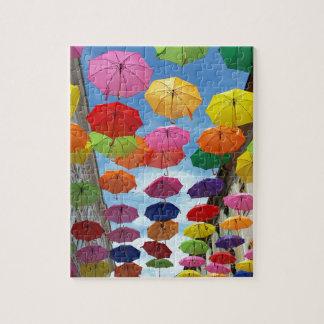 Tejado de paraguas puzzle
