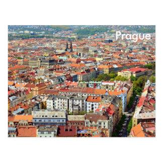Tejados de la postal de Praga