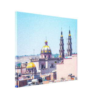 Tejados de San Juan de los Lagos y lona de la Lona Estirada Galerias