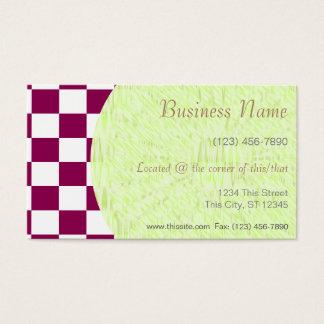 Tejas a cuadros blancas del color de la tarjeta de negocios