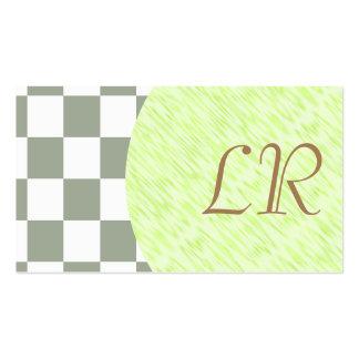 Tejas a cuadros blancas del color de la tarjetas de visita