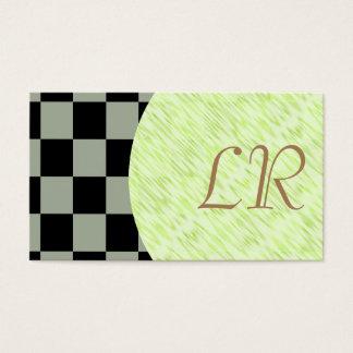 Tejas a cuadros del negro del color de la tarjeta de negocios
