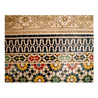 Tejas árabes de la textura postal