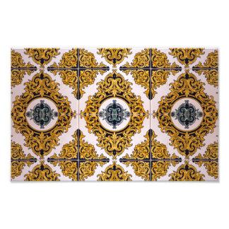 Tejas árabes impresión fotográfica