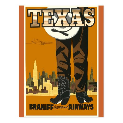 Tejas - arte del poster del viaje del vintage postales