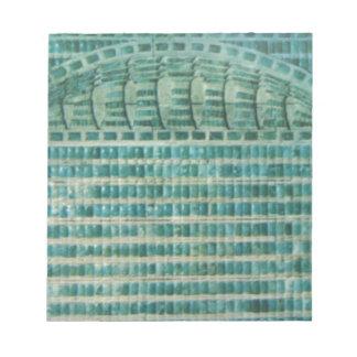 tejas azules del trullo bloc de notas