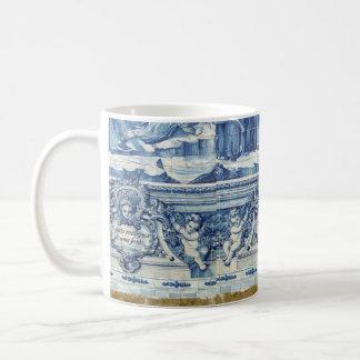 Tejas azules y blancas portuguesas de Oporto Taza De Café