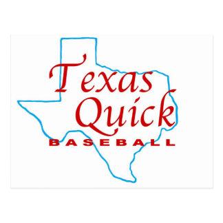 Tejas Baseball jpg rápido Postal