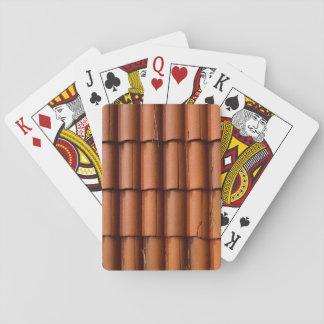 Tejas de tejado rojas baraja de cartas