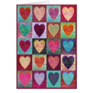 Tejas del arte del corazón tarjeta de felicitación