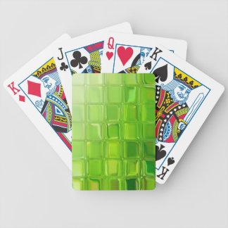 Tejas del vidrio verde baraja de cartas bicycle