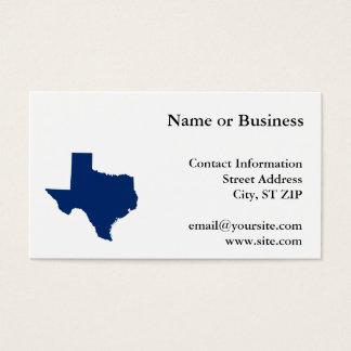 Tejas en azul tarjeta de negocios