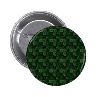 Tejas en verde chapa redonda de 5 cm