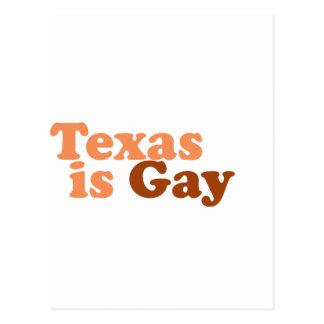 Tejas es gay tarjetas postales