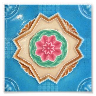 Tejas florales de Peranakan Cojinete
