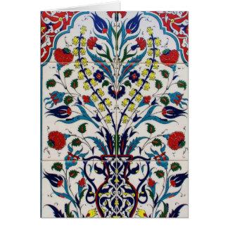 Tejas islámicas tradicionales del diseño floral tarjeta de felicitación