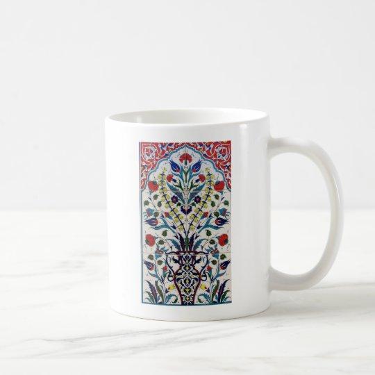 Tejas islámicas tradicionales del diseño floral taza de café