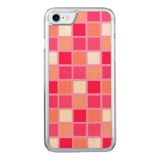 Tejas juguetonas del color del lápiz labial del funda para iPhone 8/7 de carved