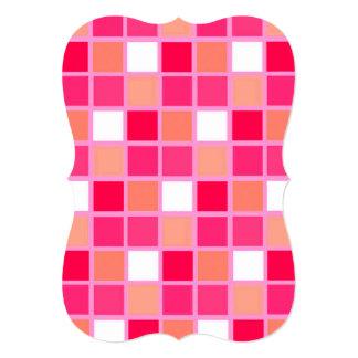 Tejas juguetonas del color del lápiz labial del invitación 12,7 x 17,8 cm