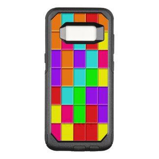 Tejas multicoloras de Taquin dispuestas Funda Commuter De OtterBox Para Samsung Galaxy S8