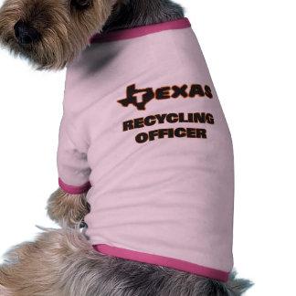 Tejas que recicla al oficial camiseta con mangas para perro