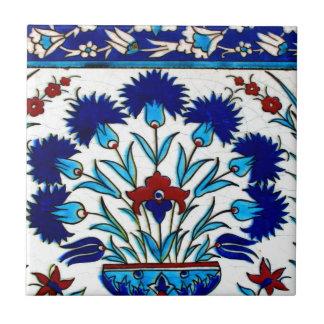 Tejas turcas abstractas florales antiguas del