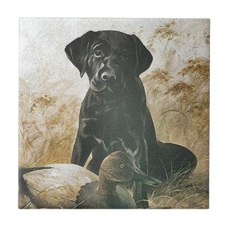 Teje la trampa del perro perdiguero del azulejo de cerámica