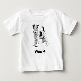 ¡Tejido! Camiseta del perro, fox terrier del