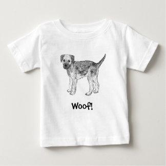 ¡Tejido! Camiseta del perro, frontera Terrier