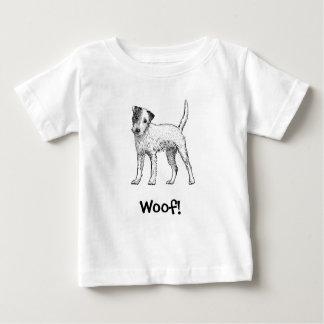 ¡Tejido! Camiseta del perro, Jack Russell,