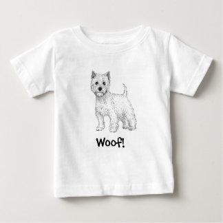 ¡Tejido! Camiseta del perro, montaña del oeste