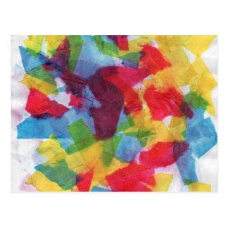 Tejido colorido postal