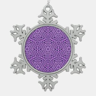 tejido de chains.pink (i) adorno de peltre en forma de copo de nieve