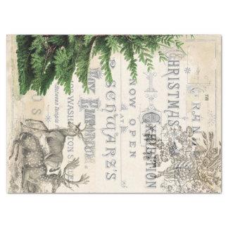 Tejido de Decoupage de las Ephemeras del navidad Papel De Seda