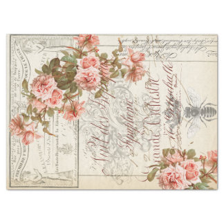 Tejido floral de Decoupage de las Ephemeras Papel De Seda