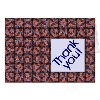 Tejido gracias modeló la tarjeta de felicitación