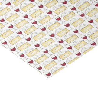 Tejido rojo de la impresión de la comida del queso papel de seda