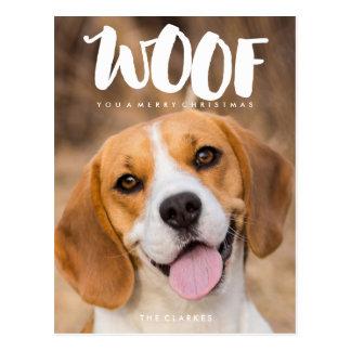 TEJIDO usted una foto del perro de las Felices Postal
