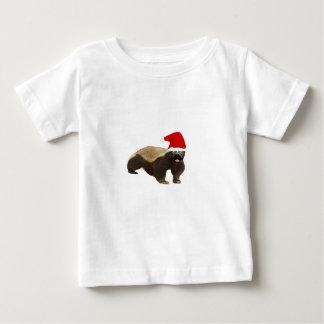 Tejón de miel del bigote Santa Camiseta