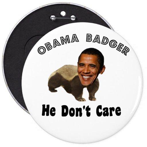 Tejón Obama de Obama político Pins