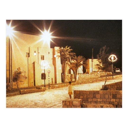 Tel Aviv - Jaffa por noche Postal