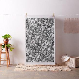 Tela abstracta blanco y negro de la pintura