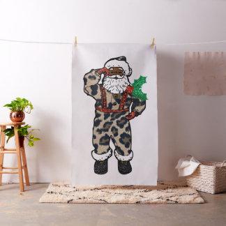 tela africana de Papá Noel del leopardo