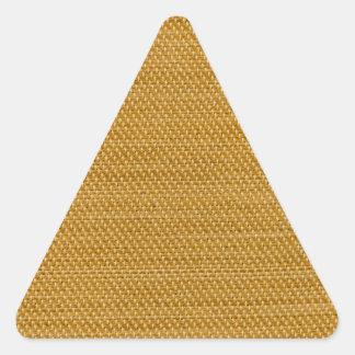 Tela amarilla pegatina triangular